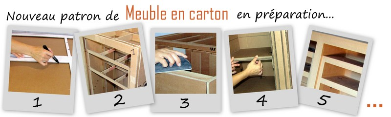 nouveau mod le de meuble en carton en pr paration. Black Bedroom Furniture Sets. Home Design Ideas