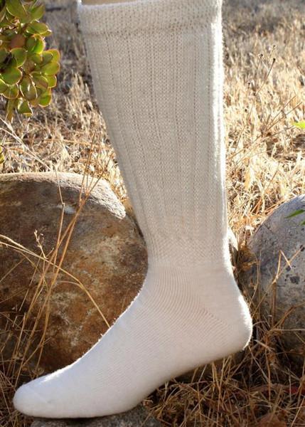 knee-hi alpaca socks