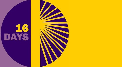 IMAGE: Purple and yellow 16 Days logo
