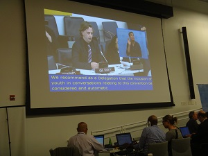 IMAGE: Brendan Pearce representing the Australian youth with disability delegation at COSP, New York