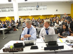 IMAGE: Australian Government Delegation at COSP in New York