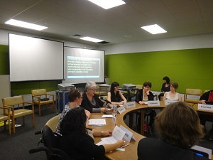 IMAGE: Australian NGO Youth Delegates presenting at side event