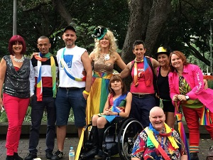 IMAGE: Participants from the 2014 Mardi Gras.