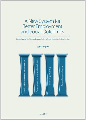 IMAGE: The front cover of the Welfare Reform Interim Report 2014