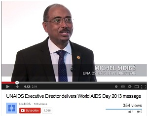 UNAIDS Executive Director Michel Sidibé gives World AIDS Day 2013 address
