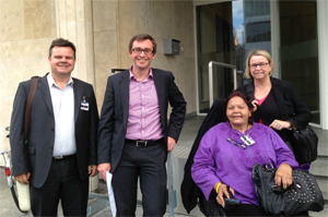 Left to Right: Damian Griffis (Australian CRPD Civil Society Parallel Report Group representative), Phil Lynch (Director of International Service for Human Rights), Gayle Rankine (Chair of First Peoples Disability Network) and Therese Sands (Australian CRPD Civil Society Parallel Report Group representative).