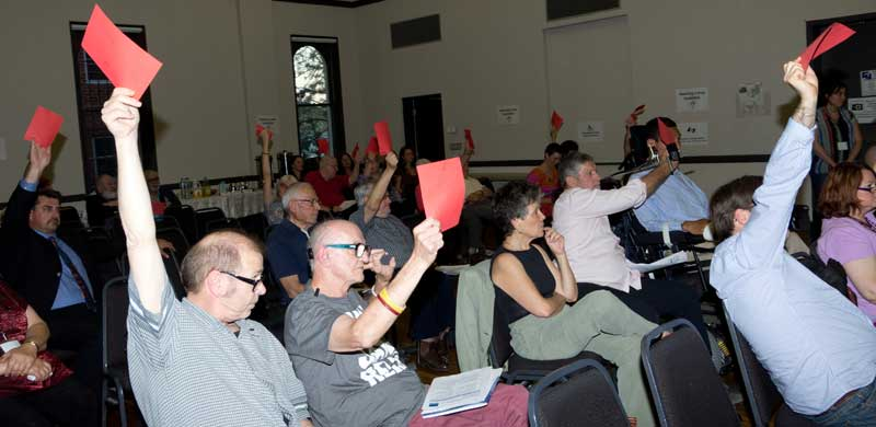 PWDA Members voting at Novembers AGM: Photo - Tan Nguyen hung.tan.ng@gmail.com
