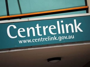 IMAGE: A sign outside at Centrelink office.