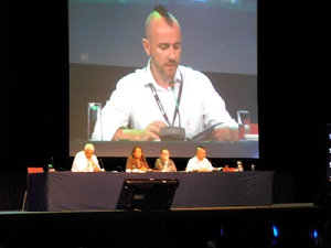 Co-chief Exceutive Officer, Matthew Bowden presenting at the 8th World Assembly